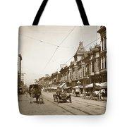 First Street Downtown San Jose California Circa 1905 Tote Bag