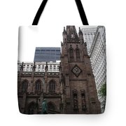 First Trinity Church Nyc Tote Bag