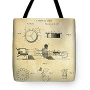 First True Motion Picture Projector Patent  1897 Tote Bag