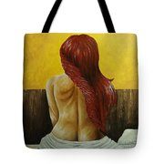 First Women In Bed Tote Bag