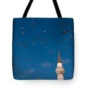 Firuz Aga Mosque Seagulls Tote Bag
