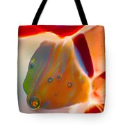 Fish Blowing Bubbles Tote Bag