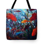 Fish Chatter Tote Bag