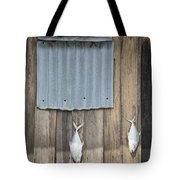 Fish Drying Outside Fisherman House Tote Bag