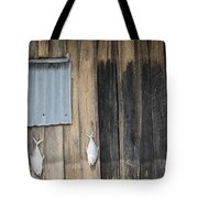 Fish Drying Outside Rustic Fisherman House Tote Bag