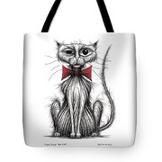 Fish Face The Cat Tote Bag