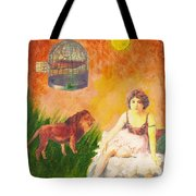 Fish In Cage Tote Bag