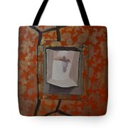 Fish-like Things Turn Into Frogs Into Birds Framed Tote Bag