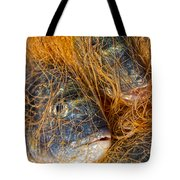 Fish On The Net Tote Bag by Stelios Kleanthous