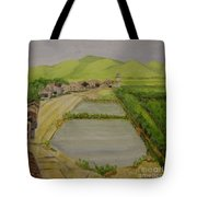 Fish Ponds Tote Bag by Lilibeth Andre