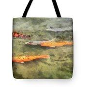 Fish - School Of Koi Tote Bag by Susan Savad
