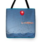 Fish Taking A Refreshing Dip Tote Bag