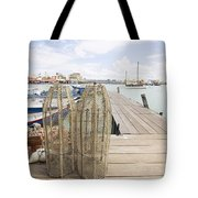 Fish Trap On Jetty In Penang Tote Bag