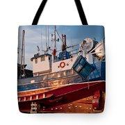 Fish Trawler On Land Tote Bag