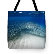 Fish Wave. Tote Bag by Sean Davey