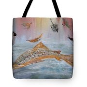 Fish With Bait Tote Bag