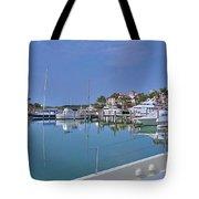 Fisher Island Marina Reflections Miami Fl 2  Tote Bag