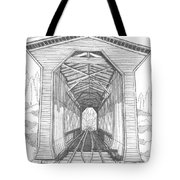 Fisher Railroad Covered Bridge Tote Bag