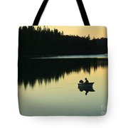 Fisherman At Dusk Tote Bag by Nancy Harrison