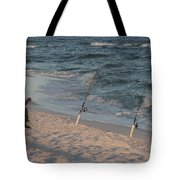 Fisherman At The Beach Tote Bag