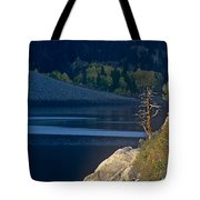 Fisherman On Lundy Lake Eastern Sierras California Tote Bag