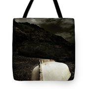 Fishermans Boat Parked On The Beach Tote Bag