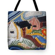 Fishermans Cottages String Collage Tote Bag