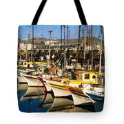 Fishermans Wharf San Francisco Tote Bag