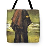 Fishermans Wife On The Beach Tote Bag by Vincent Van Gogh