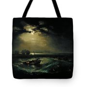 Fishermen At Sea Tote Bag