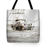 Fishermen Reel In Line From The Back Tote Bag