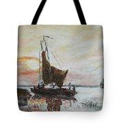 Fishermens Sunset Tote Bag