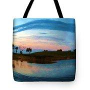 Fisheye Sunset Tote Bag