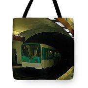 Fisheye View Of Paris Subway Train Tote Bag