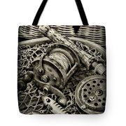 Fishing - All That Gear In Black And White Tote Bag