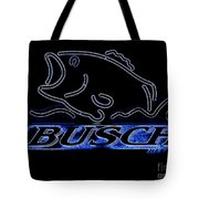 Fishing And Busch Beer In Neon Tote Bag