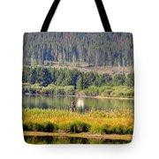 Fishing At George Town Lake Tote Bag