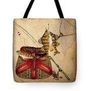 Fishing Basket  Tote Bag by Jean Plout