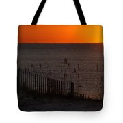 Fishing Boat And The Sunrise Tote Bag