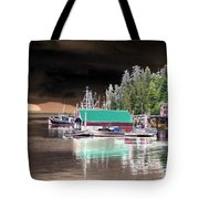 Fishing Boat Dock - Ketchican - Alaska - Photopower 02 Tote Bag
