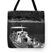 Fishing Boat In Asos Village Tote Bag