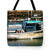 Fishing Boat In Rockport Tote Bag