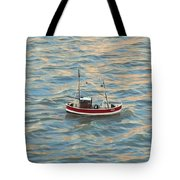 Fishing Boat Jean Tote Bag
