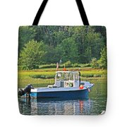 Fishing Boat Cape Neddick Maine Tote Bag