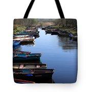 Fishing Boat Row Tote Bag