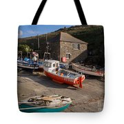 Fishing Boats At Mullion Cove Tote Bag