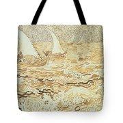 Fishing Boats At Saintes Maries De La Mer Tote Bag by Vincent van Gogh