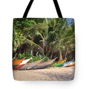 Fishing Boats B Mirissa Beach Tote Bag