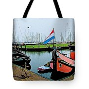 Fishing Boats In Enkhuizen-netherlands Tote Bag