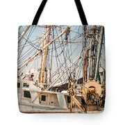 Fishing Boats In Harbour Tote Bag